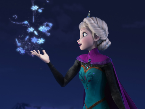 Elsa letting it go
